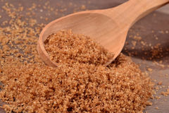 Brown sugar in a spoon Royalty Free Stock Photography