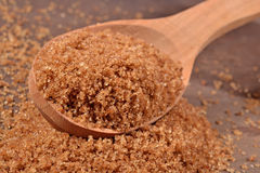 Brown sugar in a spoon Royalty Free Stock Image