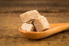 Brown sugar in spoon Stock Photo
