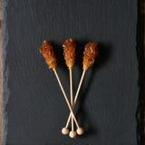 Brown sugar sticks Royalty Free Stock Photography