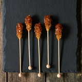 Brown sugar sticks Royalty Free Stock Images