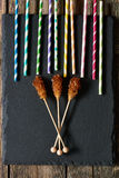 Brown sugar sticks Royalty Free Stock Photo