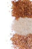 Brown sugar, three varieties Stock Photo