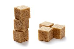 Brown Sugar. On white background Stock Images