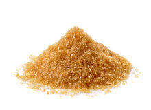 Brown sugar on white background Stock Image