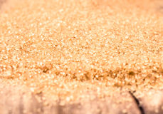 Brown sugar on wooden background close up, still life. Food back Royalty Free Stock Image
