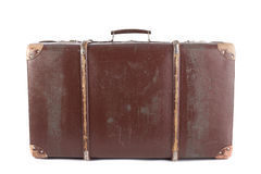 Brown suitcase Stock Photography