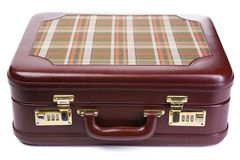 Brown suitcase Royalty Free Stock Photo