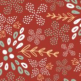 Brown summer flower seamless pattern royalty free illustration