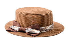 Brown Summer hat. Stock Photography