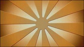 Brown sunburst in vintage style stock footage