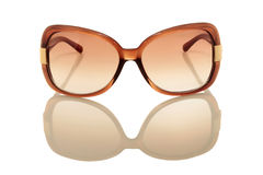 Brown sunglasses. Isolated on a white background Stock Photos