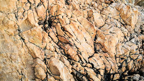 Brown surface of rock Royalty Free Stock Photo