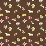 Brown sweet cake pattern Royalty Free Stock Photo