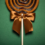 Brown Sweet Lollipop For Children Royalty Free Stock Photo