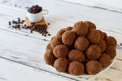 Brown sweets on a plate.