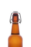 Brown swing top beer bottle on white Royalty Free Stock Photography