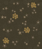 Brown swirls and flowers pattern Royalty Free Stock Photos