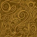 Brown swirls - seamless pattern Royalty Free Stock Photography