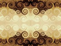 Brown swirly Background Royalty Free Stock Image
