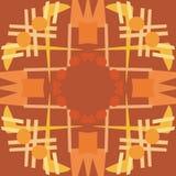 Brown Symmetrical Tile Patterns Royalty Free Stock Photo