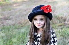 brown synad flicka Royaltyfria Foton