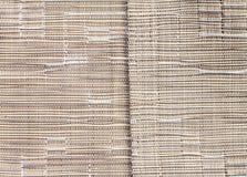 Brown syntetycznej tkaniny wzór i środkowa rabatowa linia Fotografia Royalty Free