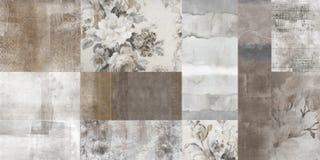 Brown sztuki abstrakta muśnięcia skutka kwiecista tapeta zdjęcia stock