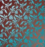 Brown tło z turkusowym bezszwowym ornamentem ilustracji