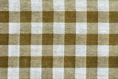 Brown tablecloth. Brown and white tablecloth close up, for background use Royalty Free Stock Photography