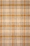 Brown tablecloth tartan pattern Royalty Free Stock Image
