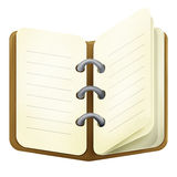 Brown-Tagebuch Stockbild