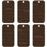 Brown Tags With Coffee Stock Photos
