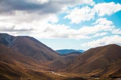 Brown-Tal in Neuseeland Lizenzfreie Stockbilder