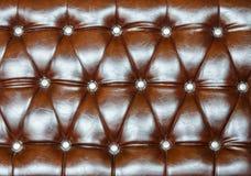 Brown tapicerowania skóry wzoru tło Obraz Royalty Free