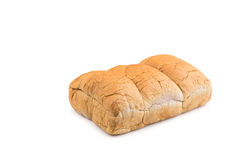 Brown taro bread isolated on white. Background Royalty Free Stock Images