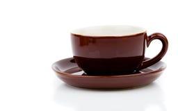 Brown-Tasse Tee oder Kaffee stockfoto