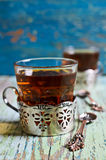 Brown tea in a glass Cup Royalty Free Stock Photo
