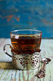 Brown tea in a glass Cup Royalty Free Stock Image