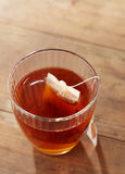 Brown tea on glass cup Royalty Free Stock Image