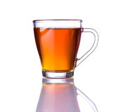 Brown Tea Isolated on White Background. Single cup of brown tea isolated on white background royalty free stock image