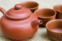 Brown Tea Set Stock Image