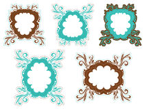 Brown and teal frames Stock Image