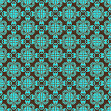 Brown and teal pattern. A background pattern of brown and teal artwork Stock Images