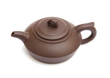 Brown teapot Stock Images