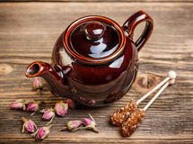 Brown teapot Royalty Free Stock Photography
