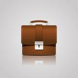 Brown teczki biznesowa ikona Fotografia Royalty Free