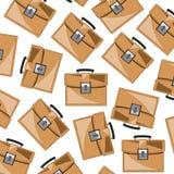Brown teczki wzór Obraz Stock