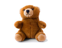 Brown teddy-bear. Small toy - brown teddy bear Stock Image