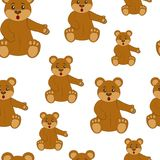 Brown Teddy Bear Configuration sans joint Images libres de droits